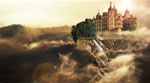 Creating the floating-castle using Photoshop