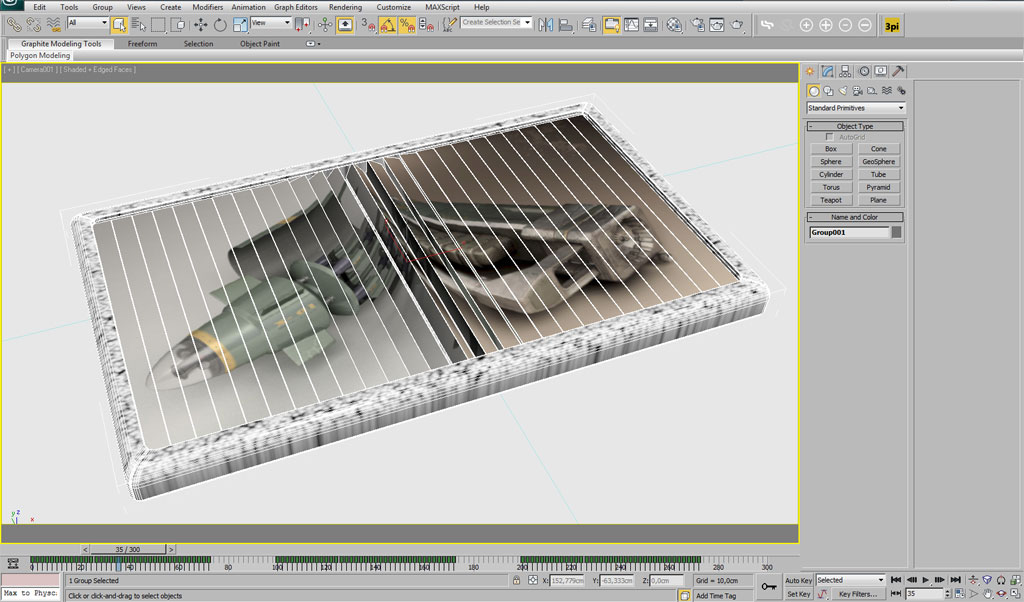 Using MAXScript to animate an advertisement inside 3ds Max - Basic
