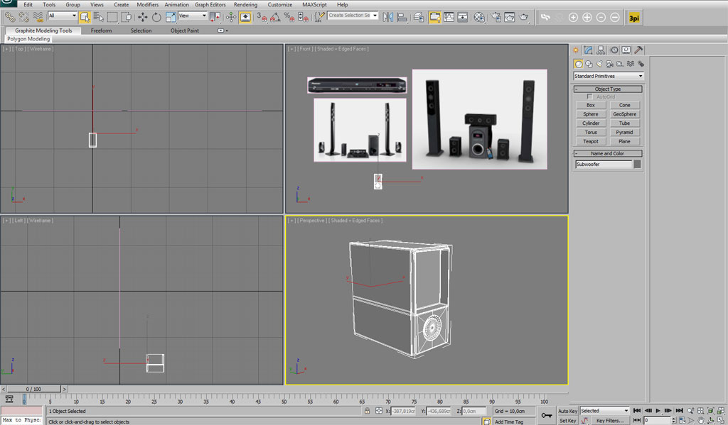 Modelling a home theatre system in 3ds Max - Interior - 3D ... on sketchbook pro tutorials, word tutorials, mastercam tutorials, maya tutorials, inventor tutorials, autocad tutorials, revit tutorials, solidworks tutorials, microsoft office tutorials, 3ds max tutorials,