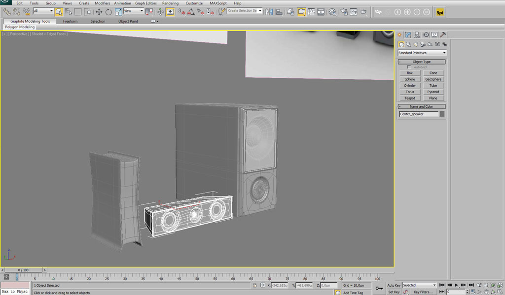 Modelling a home theatre system in 3ds Max - Interior - 3D