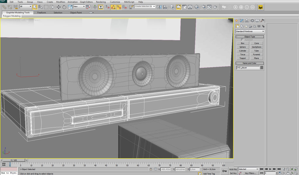 Modelling a home theatre system in 3ds max interior 3d Home modeling software