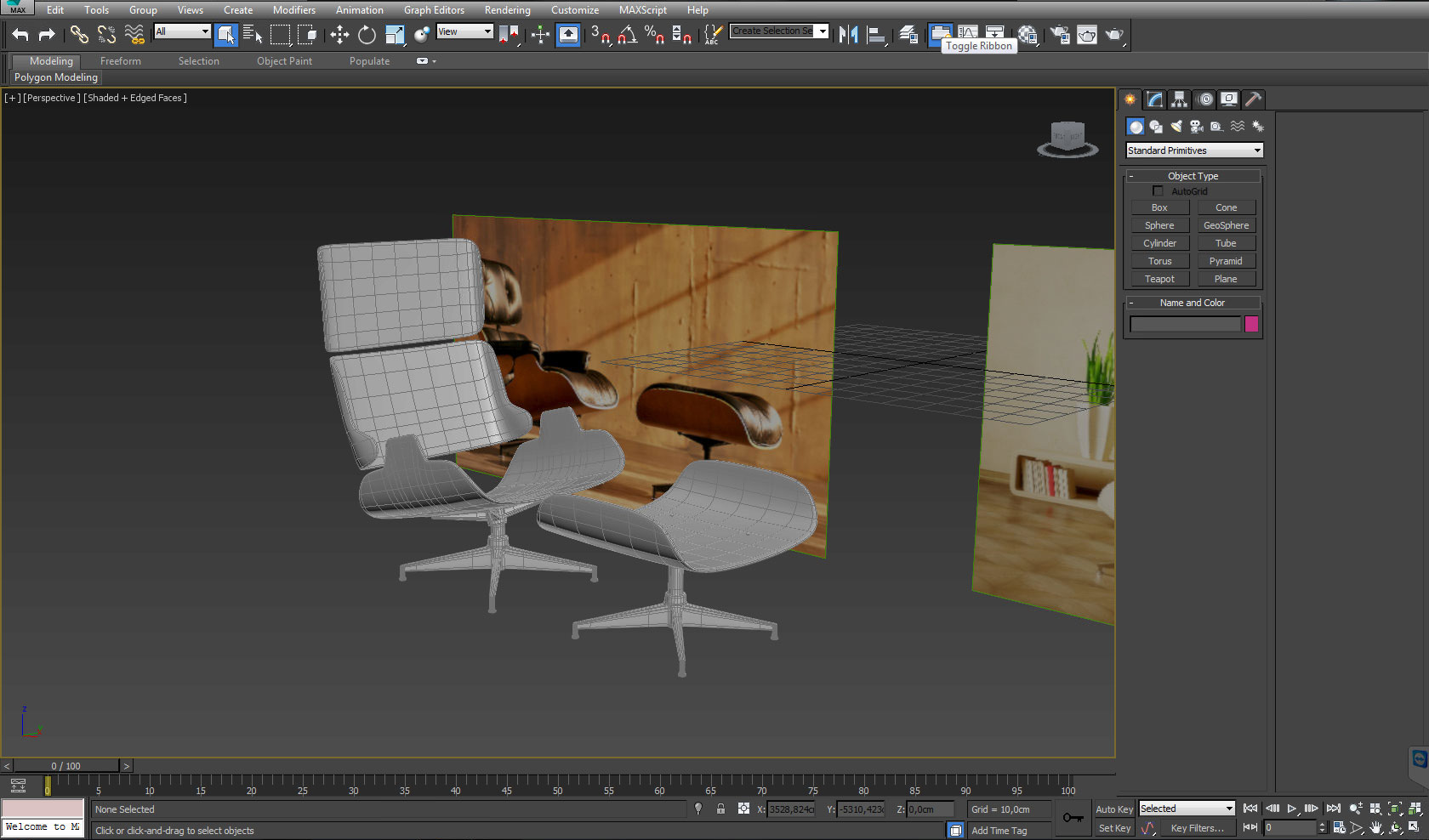 Modelling A Leather Chair In 3ds Max Interior 3d Sphere 3ds Max Tutorials