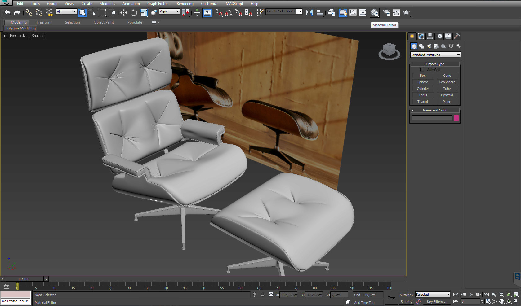 Modelling a leather chair in 3ds max - Interior - 3D-Sphere