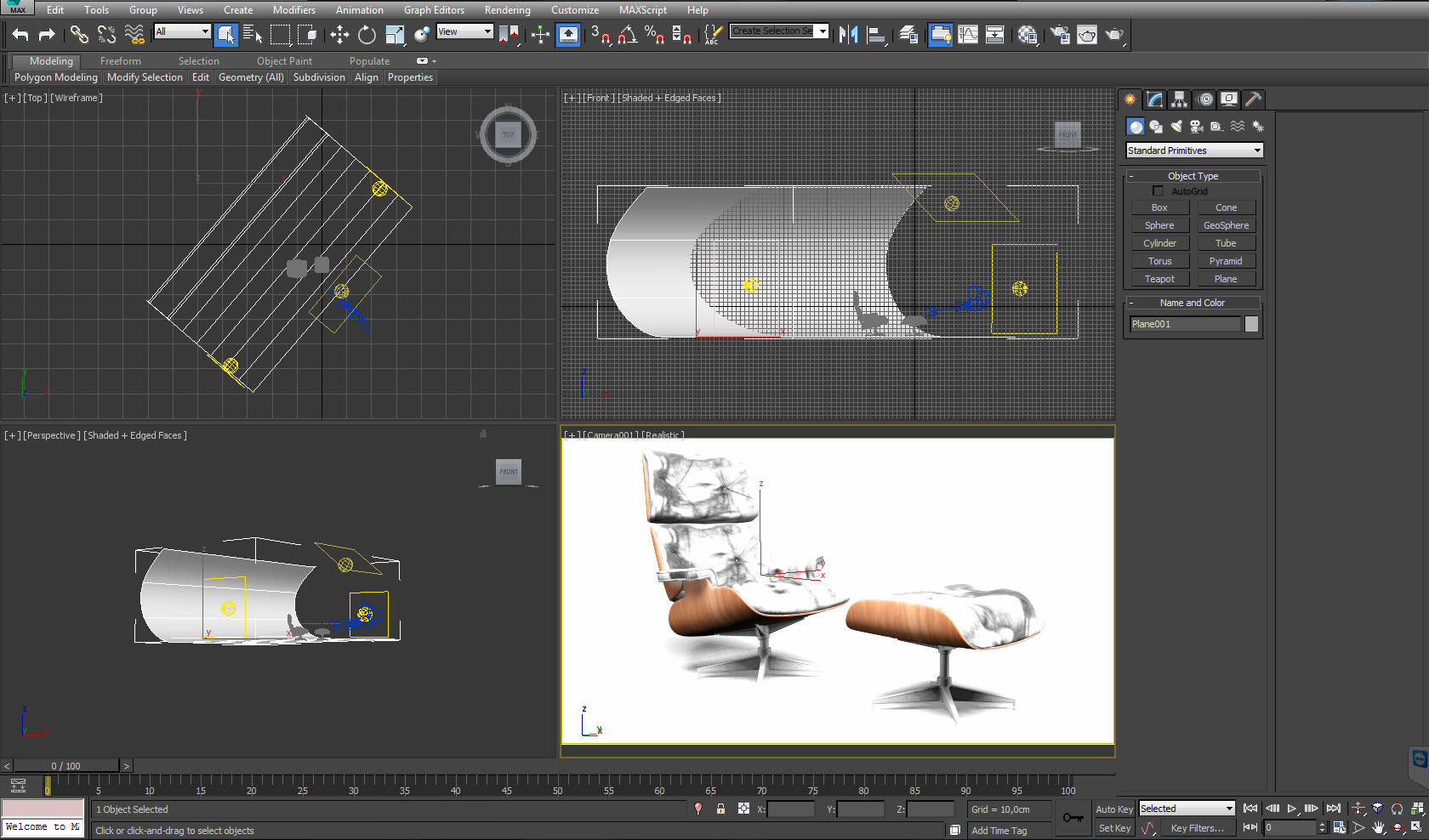 modelling a leather chair in 3ds max interior 3d sphere 3ds max tutorials. Black Bedroom Furniture Sets. Home Design Ideas