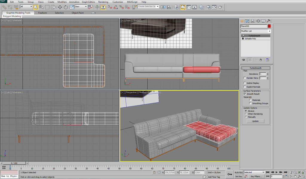 Modelling an interior sofa using 3ds max interior 3d for 3d max tutorial
