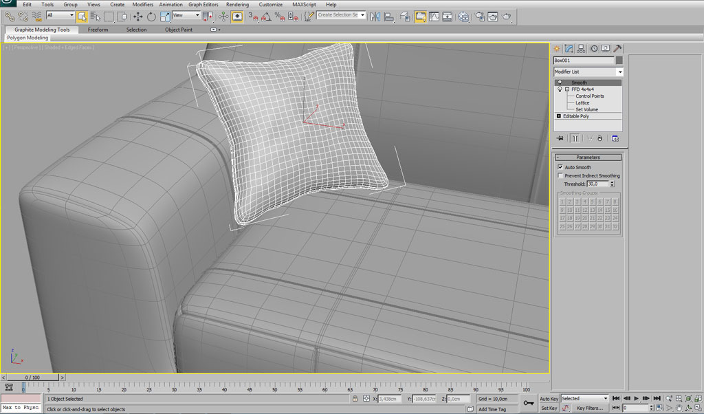 Modelling An Interior Sofa Using 3ds Max