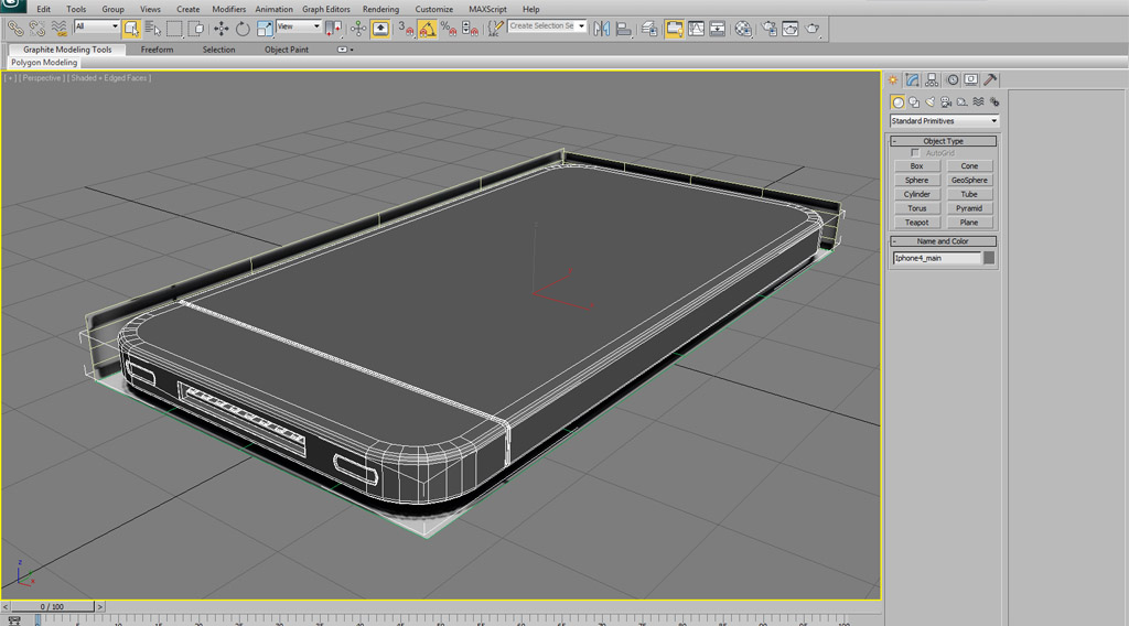 Modeling iphone4 in 3dsmax 3d sphere 3ds max tutorials for Tutorial 3d max