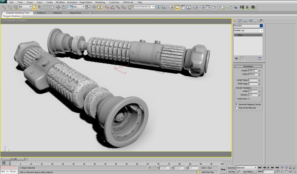 Modeling a Star Wars Lightsaber in 3DsMax - Weapons - 3D